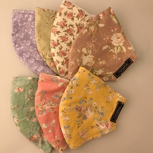 Days of the week - Floral Cotton Face Mask (set of 7)