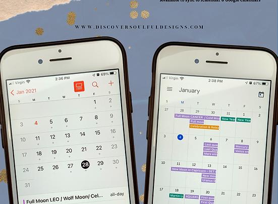 2021 Moon Phases Astrology Calendar