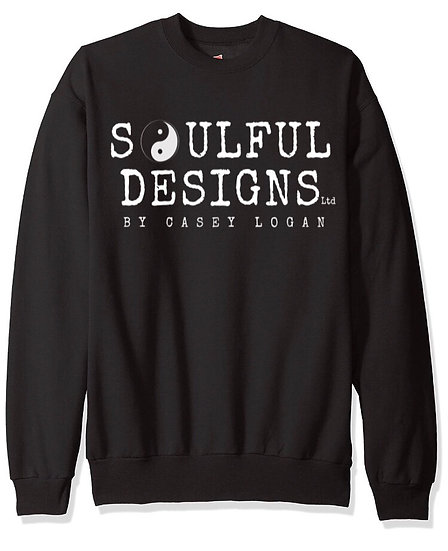 PRE-ORDER Black sweatshirt • Soulful Designs logo
