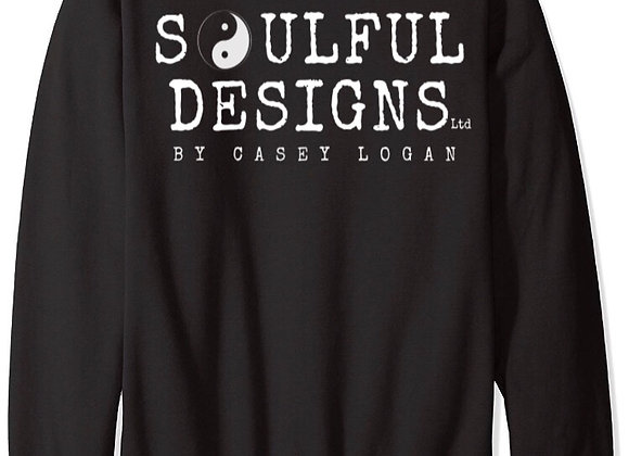 PRE-ORDER Black sweatshirt • Soulful Designs logo