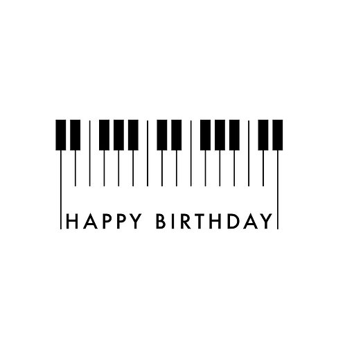 Piano Birthday Card