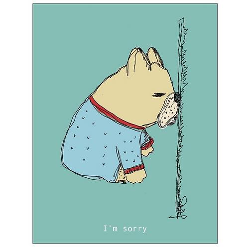 Little dog - I'm sorry Card