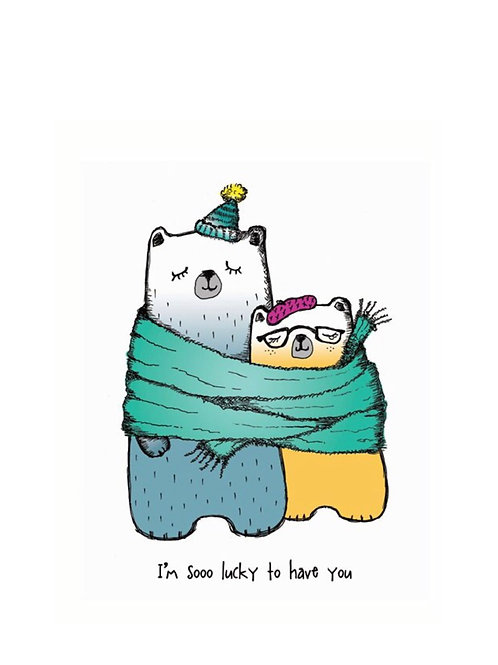 Valentines bear Card