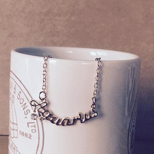 12 Horoscope Necklace - Aquarius