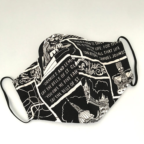 Black & White London Face Mask