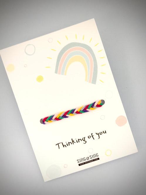 Think of you-Rainbow bracelet