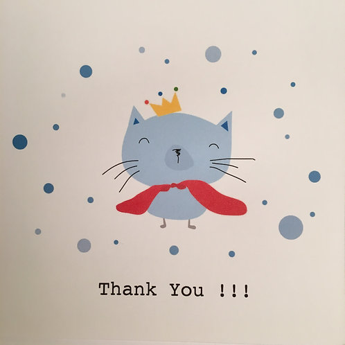 Little Cat Thank You Card