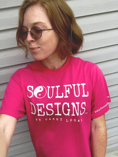 Hot pink Soulful Designs tshirt