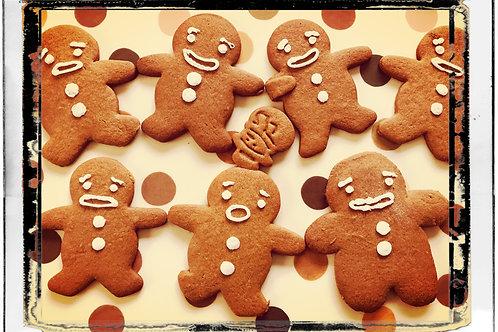 Homemade Mini Gingerbread Man