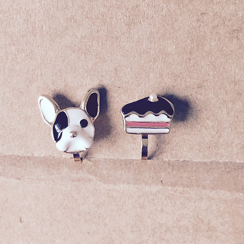 Puppy & Cake Clip On Earring