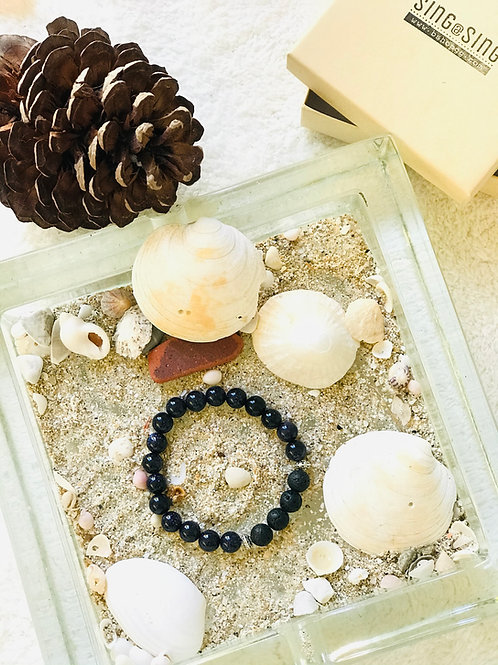 Blue Gold Stone Bracelet