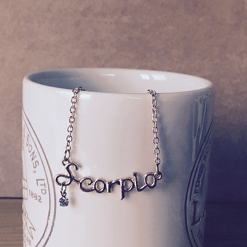 12 Horoscope Necklace - Scorpio