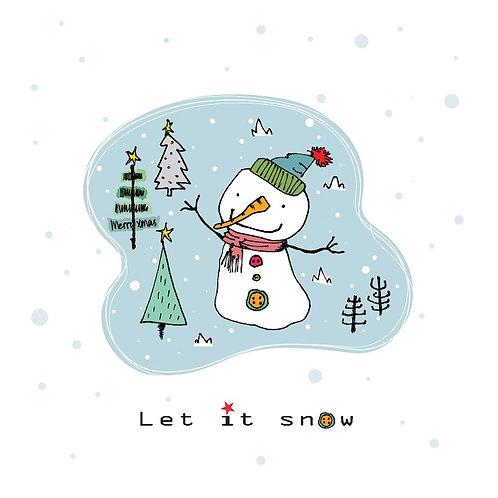 Let it snow X'mas Card