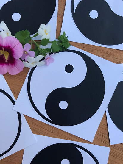 White Yin Yang sticker
