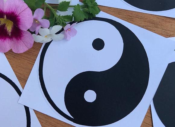 White Yin Yang sticker