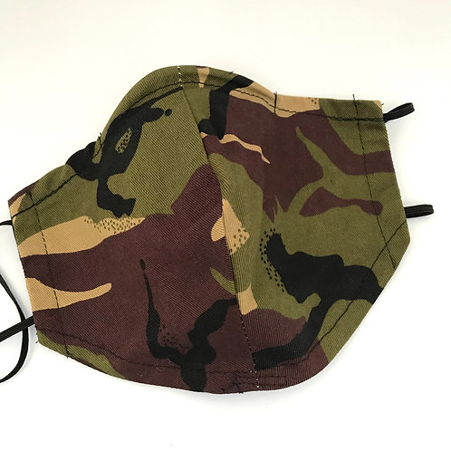 Army Camouflage Print Face Mask