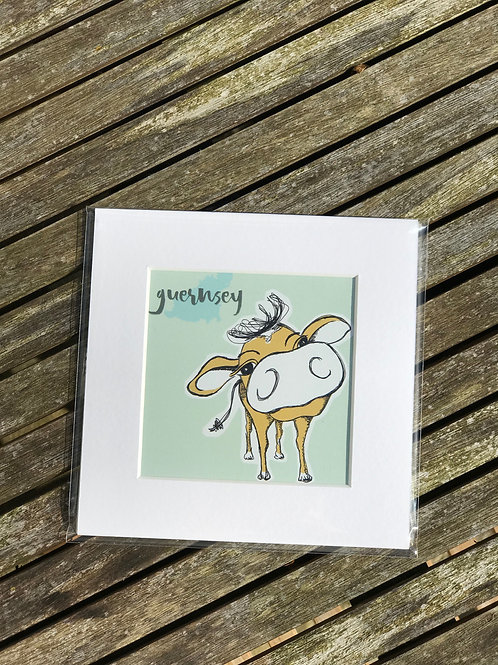 "Guernsey Cow 6""x6"" Prints"