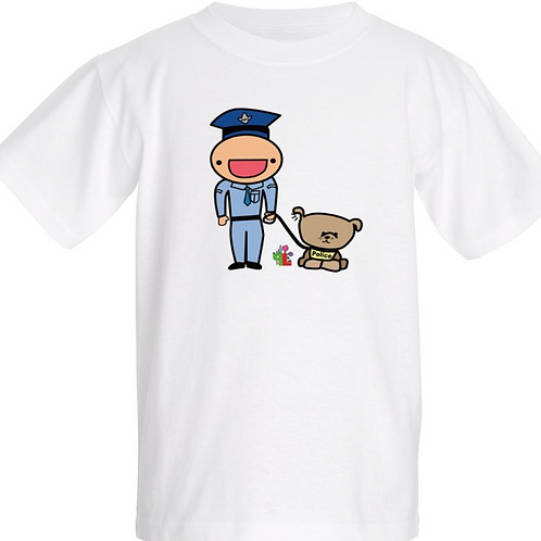 b- Little Police & Dog Tee
