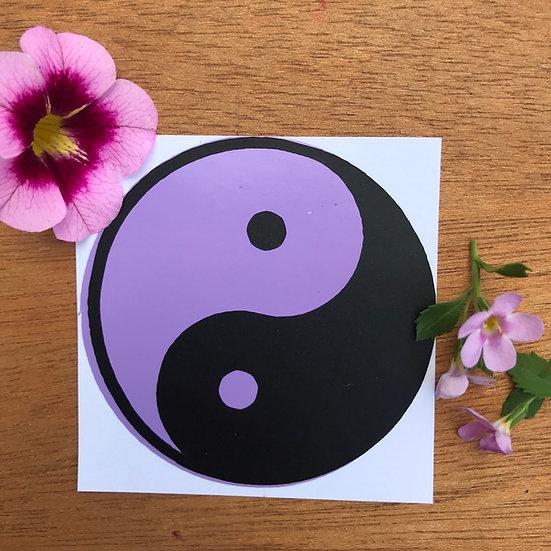 Lavender Yin Yang Sticker
