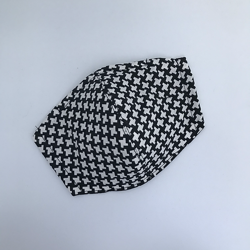 Black and White Pattern (3 Layers) Face Mask