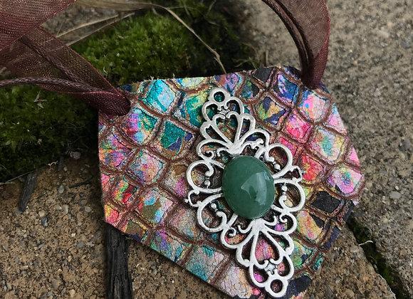 Green Adventurine mermaid necklace