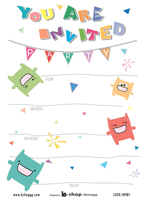 Monster Party Invitations - INV01