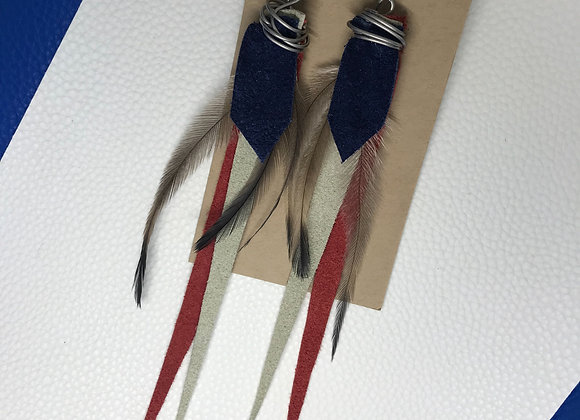 Red, white & blue earrings