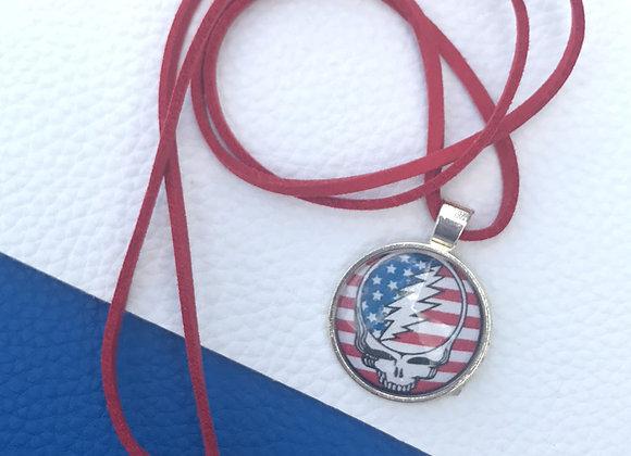 Grateful Dead stealie - American flag