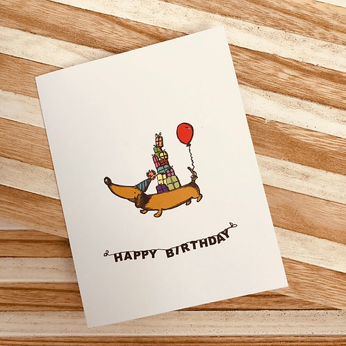 Little dachshund - Birthday Card