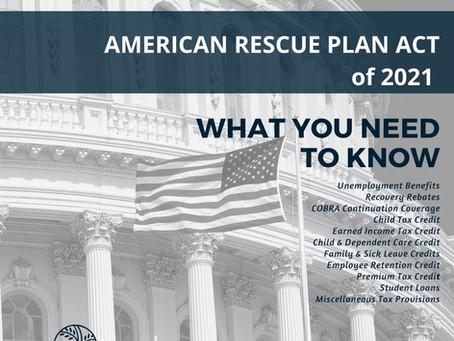 How does the American Rescue Plan ACT of 2021 impact taxes?