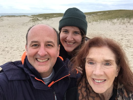 Colin Skevington, Sian Davies and Linda Marlowe in Cape Cod after the festival.