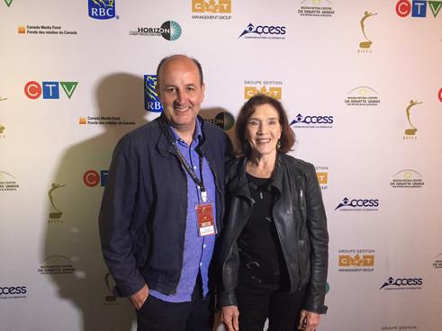 Linda Marlowe and Colin Skevington at RIFFA in Regina, Canada.