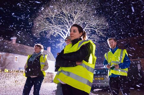 The Lossen (2018) Behind the scenes   Snow machine