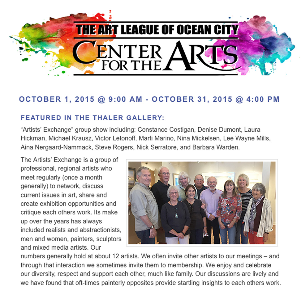 Ocean City Art League 2015