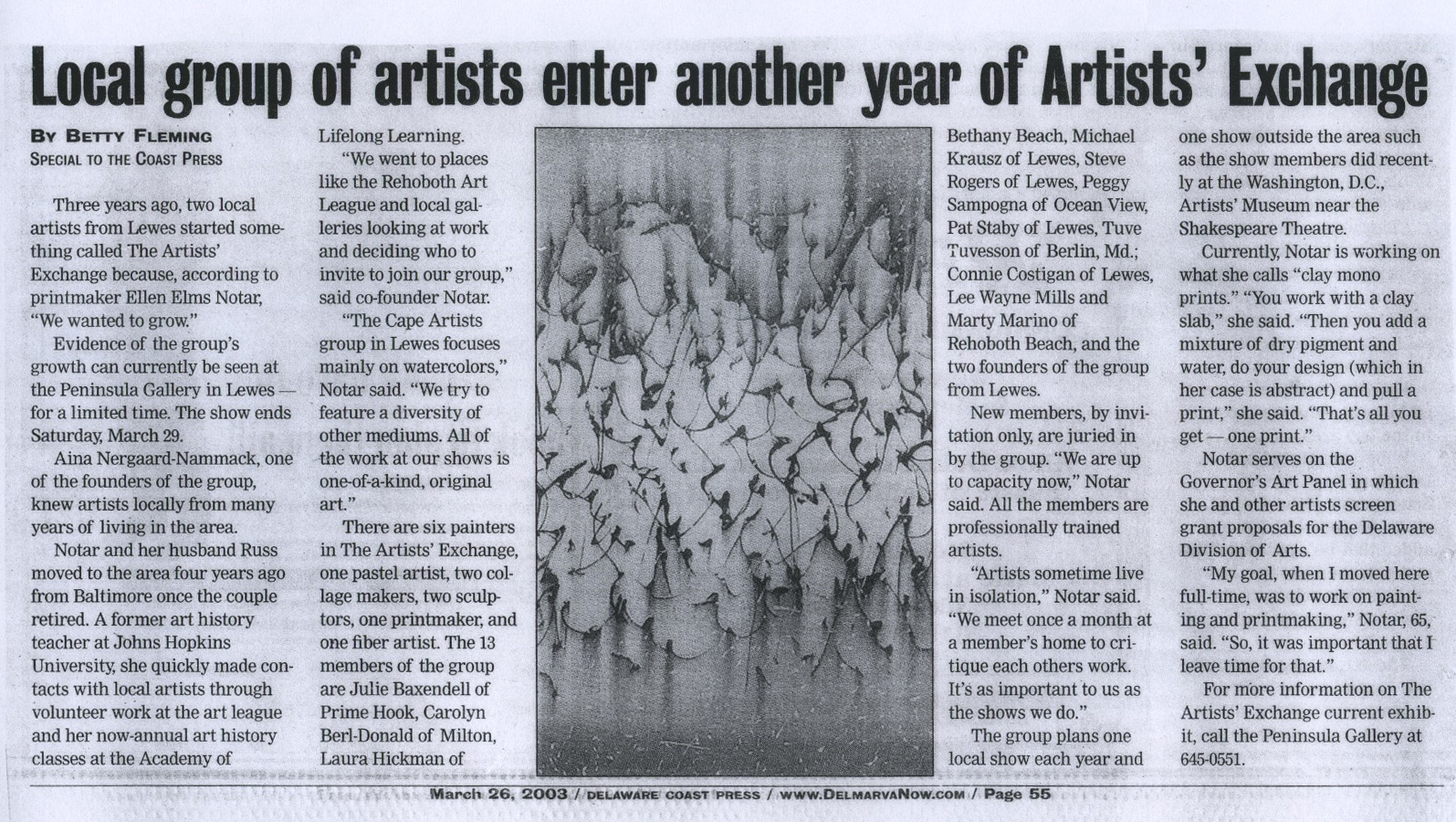 Delaware Coast Press 2003