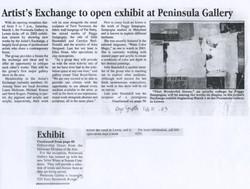 Peninsula Gallery 2003