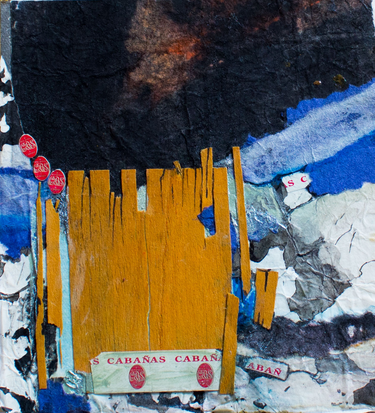 """""""The Cigar Path""""  Acrylic, collage S"""
