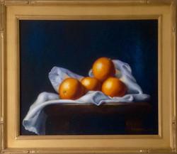 Oranges on a White Cloth
