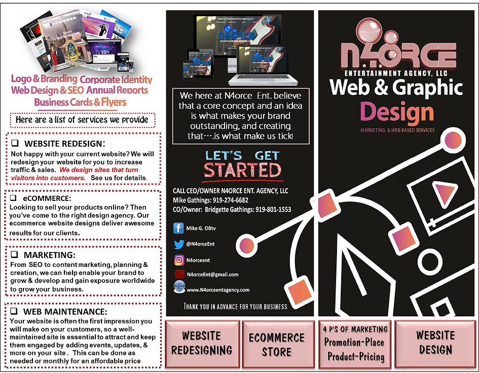 front cover page for tri-fold main page.