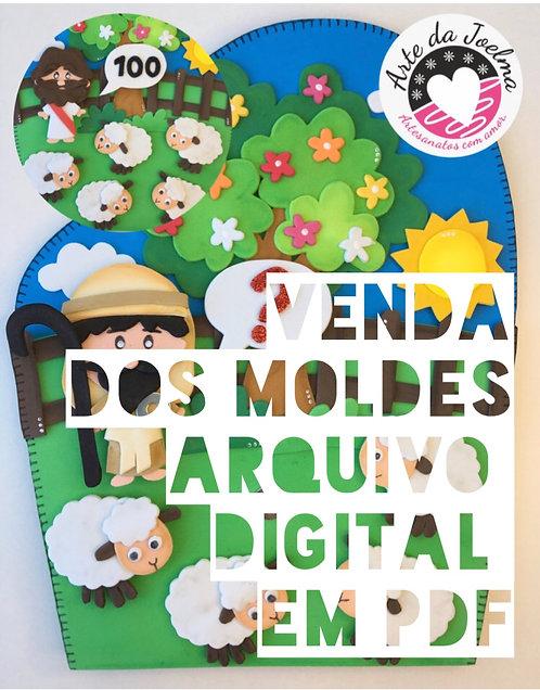 Molde (arquivo digital)  luvinha A OVELHA PERDIDA - NOVO
