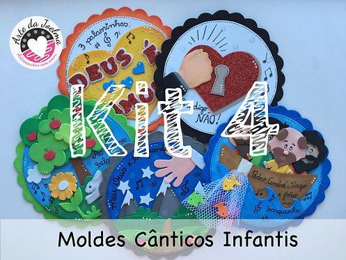 KIT 4 -  Moldes de Cânticos Infantis - círculos