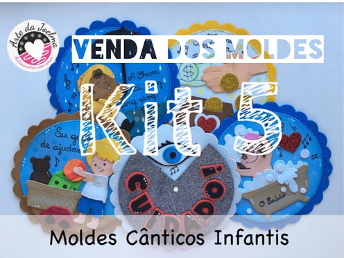 KIT 5 -  Moldes (arquivo digital)  de Cânticos Infantis - círculos