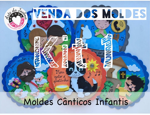 KIT 1 -  Moldes (arquivo digital)  de Cânticos Infantis - círculos