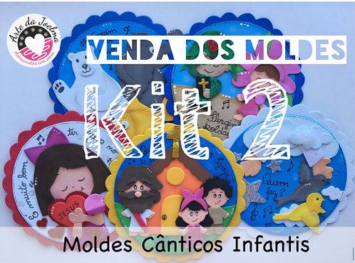 KIT 2 -  Moldes (arquivo digital)  de Cânticos Infantis - círculos