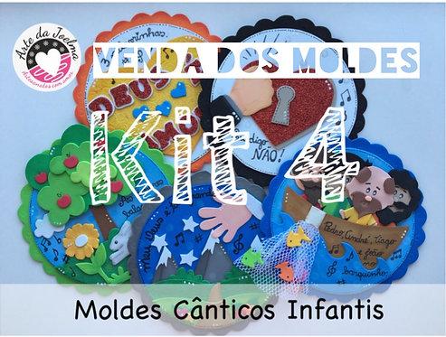 KIT 4 -  Moldes (arquivo digital) de Cânticos Infantis - círculos