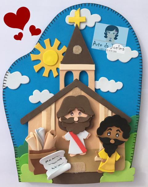 Molde (arquivo digital) luvinha Jesus vai a igreja