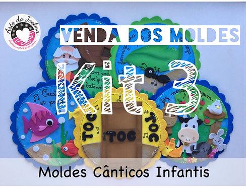 KIT 3 -  Moldes (arquivo digital)  de Cânticos Infantis - círculos