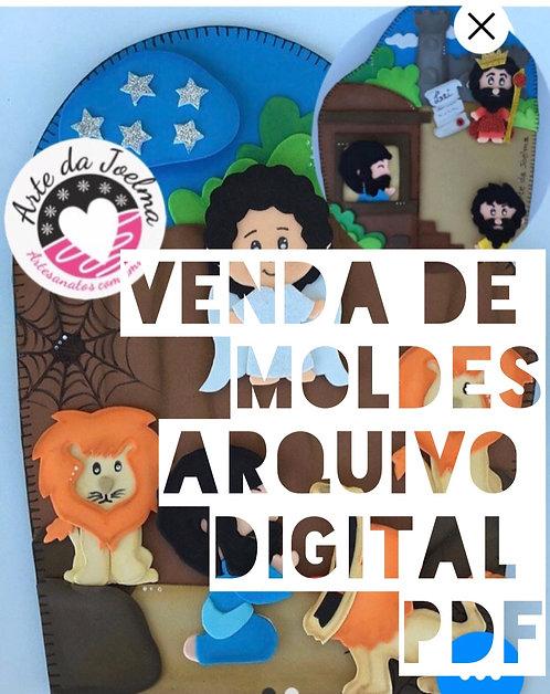 Molde (arquivo digital) luvinha Daniel na cova dos leões.