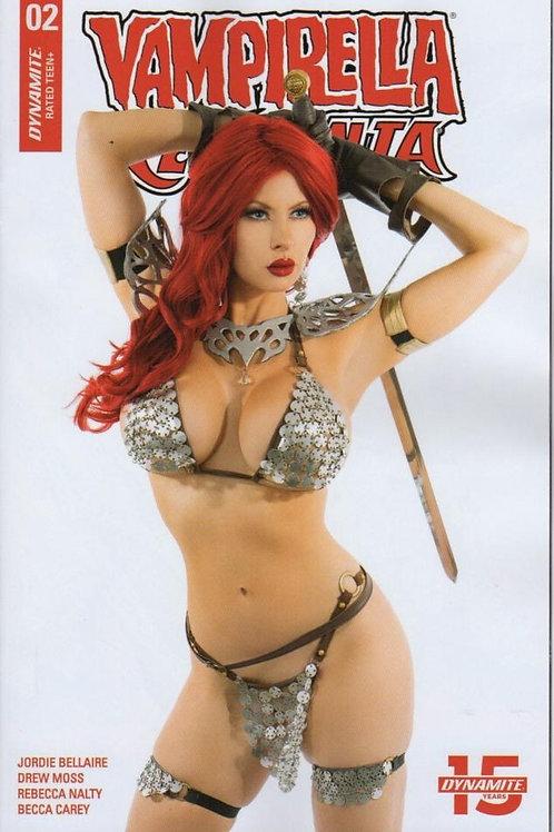 Red Sonja Vampirella #2 Signed Cover