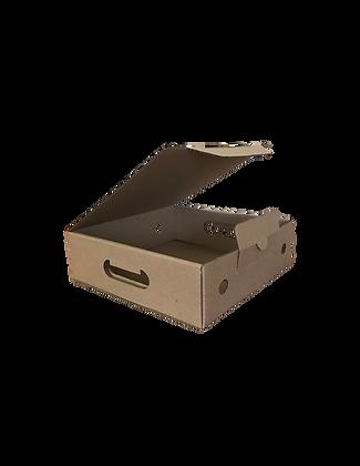 Гофрокороб 250х260х90 самосборный с замками и вырубными ручками